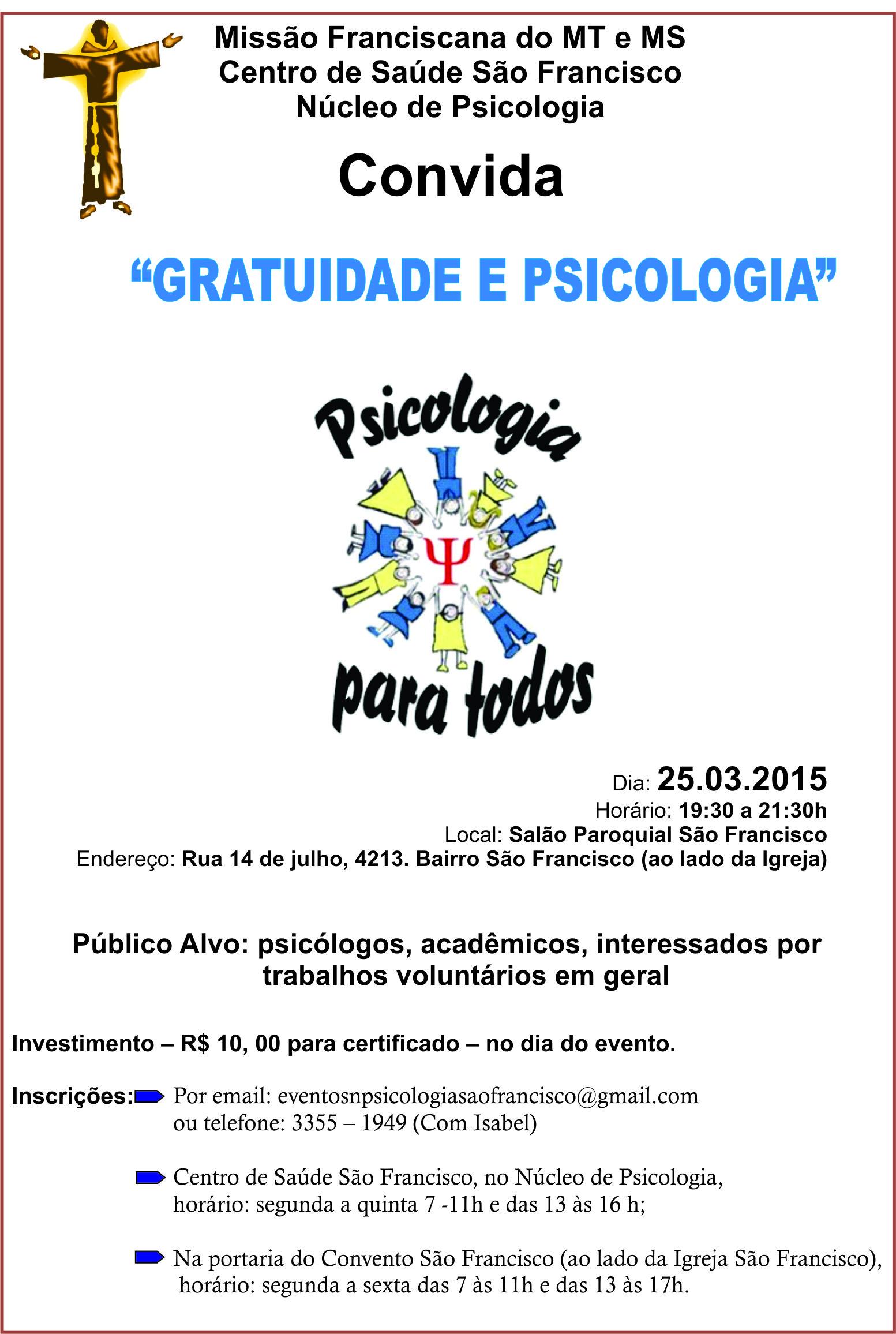 GRATUIDADE E PSICOLOGIA