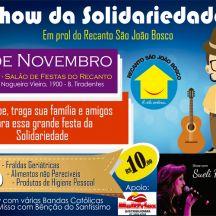 cartaz show da solidariedade